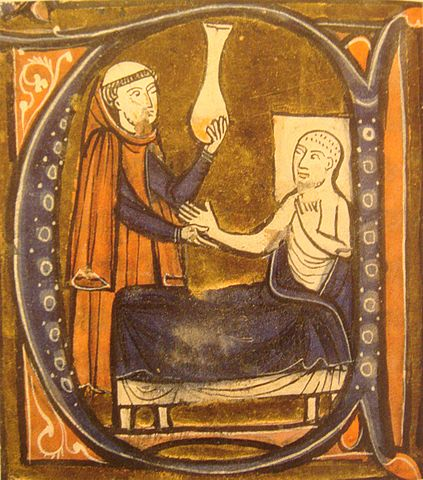 "Depiction of the Persian physician Al-Razi, in Gerard of Cremona's ""Recueil des traités de medecine"" 1250–1260."