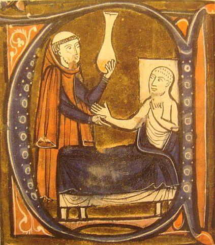 "Depiction of the Persian physicianAl-Razi, in Gerard of Cremona's ""Recueil des traités de medecine"" 1250–1260."