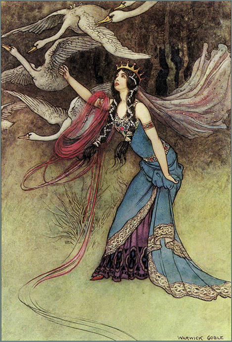 Warwick Goble - Swans